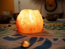 Himalaya Salt Candle Light