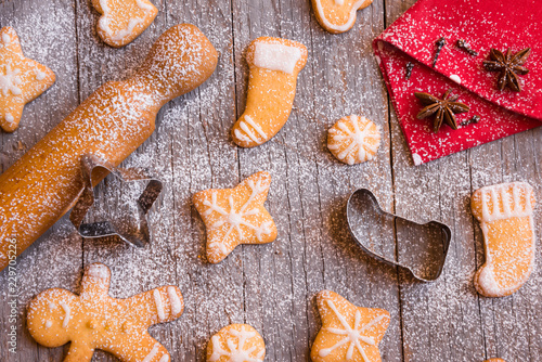 Traditional Homemade Christmas Cookies Buy This Stock Photo And
