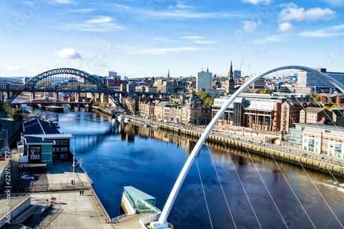 Fototapeta Classic view of the Iconic Tyne Bridge spanning the River Tyne between Newcastle