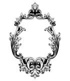 Vintage mirror frame Vector. Baroque rich design elements decor. Royal style ornament