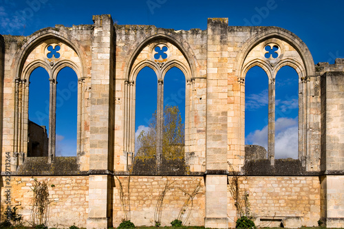 Foto  Die Abtei La Sauve-Majeure in Aquitanien
