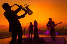 Silhouette Saxophone Musician ...