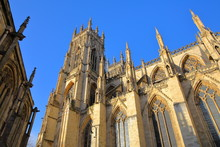 The Minster At Sunset In York,...