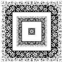 Seamless Floral Moochrome Black White Flowers Pattern