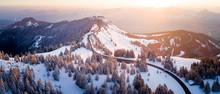 Winding Mountain Road, Zauchensee, Berchtesgaden, Bavaria, Germany