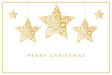 Merry Christmas - Goldene Ster...