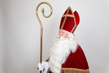 Saint Nicholas Is Looking At The Left Direction