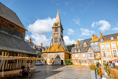 Valokuva Saint Catherine Old wooden church in Honfleur, famuos french town in Normandy