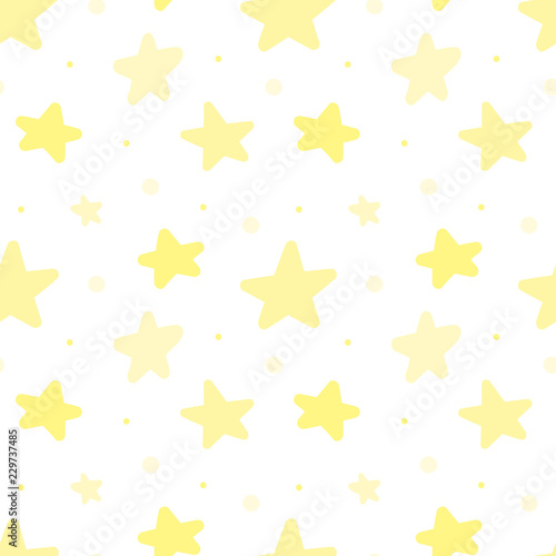 Seamless pattern of yellow stars. Concept for baby shower ...