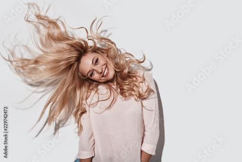 Foto op Canvas Kapsalon Strong hair.