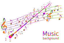 Colorful Music Background. Abs...
