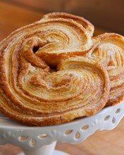 Palmiers On A Cake Stand