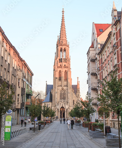 St. Mary's Church in Katowice (Polish: Kościół Mariacki ) is one of oldest churches in Katowice from 19th century. Neo-Gothic church is located in Srodmiescie district