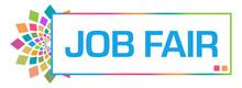 Job Fair Colorful Circular Box