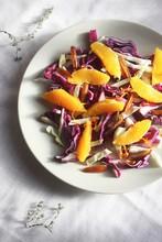 Raw Winter Salad On Plate