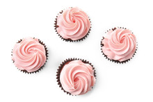 Sweet Cupcakes On White Background