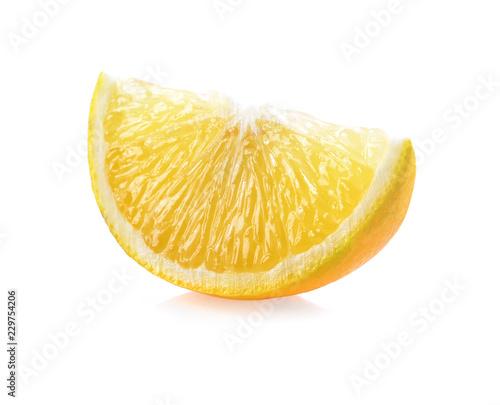 Orange slice isolated on white background.