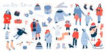 Winter Activities. Various Peo...