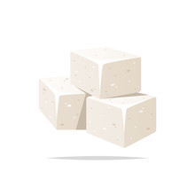Sugar Cubes Vector Isolated