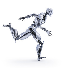 A Robot Jogger Running. Sport ...