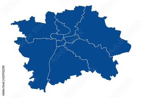 Fototapeta premium Mapa Pragi
