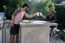 Friends Having Drinks Outdoors