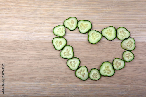Cucumber heart symbol table