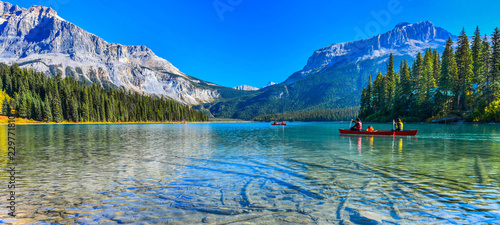 Lac / Etang Emerald Lake,Yoho National Park in Canada
