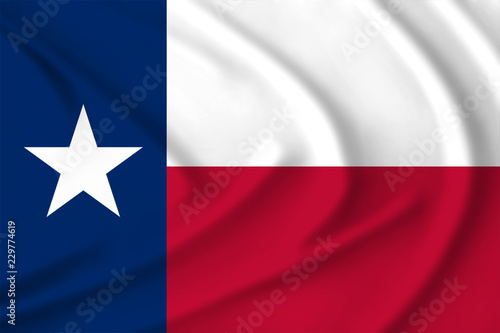 Foto op Plexiglas Texas The Texas flag waving from the wind, proudly fluttering in the wind