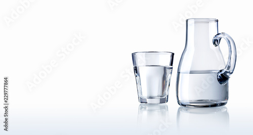 Glass of water and carafe