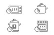 Microwave, pan, multicooker, oven with timer
