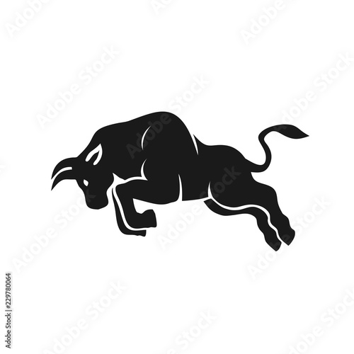 creative Strong bull logo vector illustration