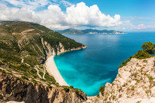 Myrtos Beach On Kefalonia Isla...