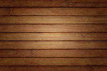 Bamboo Slats Background With Vignette
