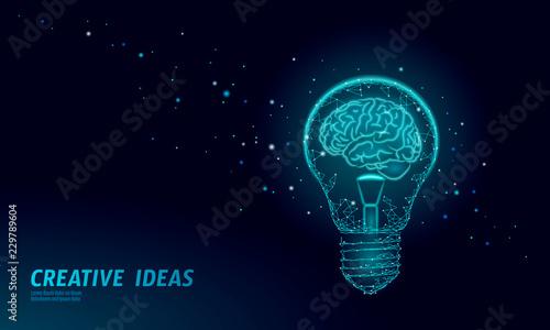 Photo  Human brain IQ smart business concept