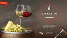 Realistic Winemaking Background