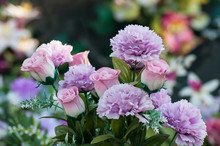 Closeup Of Artificial Flowers ...