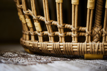 Close Up Of A Wicker Basket