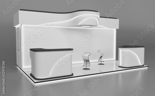 Exhibition Stand Tables : Exhibition modular stand with tables