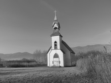 Old Church In Black And White