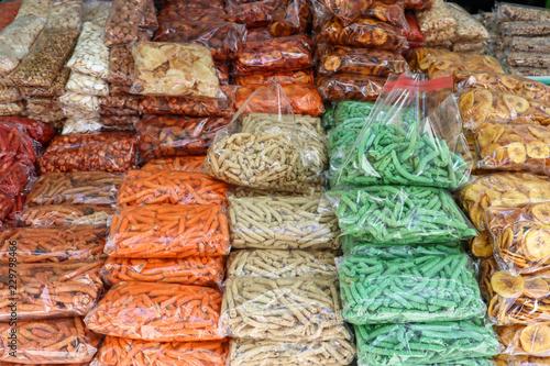 Valokuva  Snack (Botanas) for Sale at Market in Mexico City (Variety)