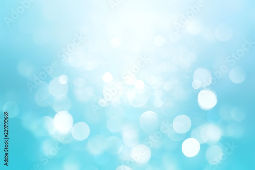 Valokuva  Abstract colorful blur blue texture background with white and blue bokeh circles in soft color style