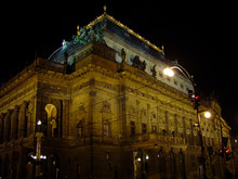 National Theatre In Prague At Night