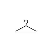 Thin Line Hanger Icon On White Background