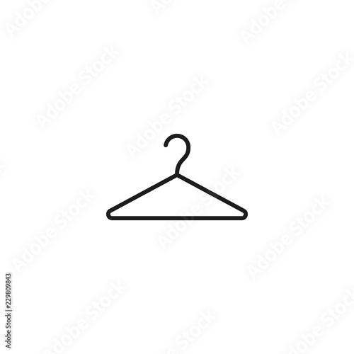 Fotografie, Obraz  thin line hanger icon on white background