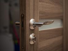 Open Modern Style Wooden Door ...