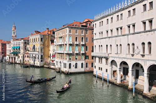 Fototapety, obrazy: Famous water street - Grand Canal in Venice Italy.