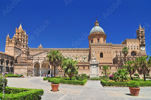 Garden Poster Palermo Cathedral is the cathedral church of the Roman Catholic Archdiocese of Palermo located in Sicily southern Italy.
