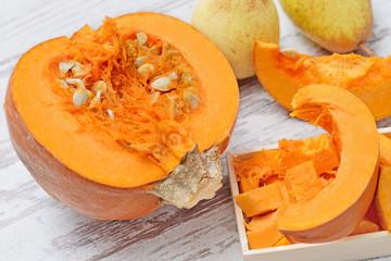 Fototapeta Pumpkin - a vegetable rich in vitamins and minerals