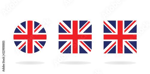 Cuadros en Lienzo Set of three form The Union Jack